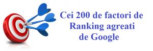 Cei 200 de factori de Ranking agreati de Google: Lista Completa.