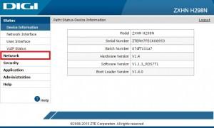 Router ZTE ZXHN H298N Wi-Fi