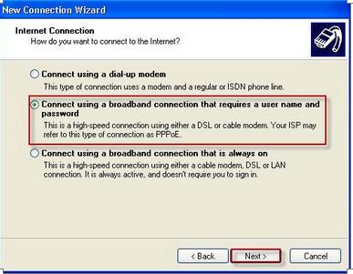 Setari internet RDS Windows XP