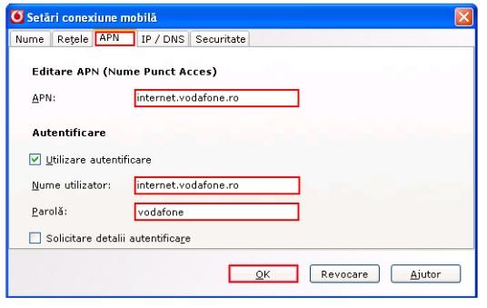 Configurare Stick Mobil Vodafone