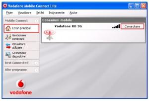 Configurare Vodafone Mobil